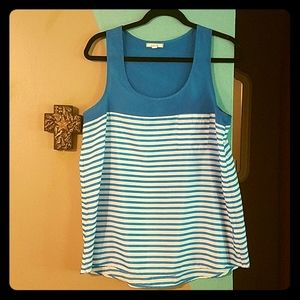 Pleione striped pocket tank
